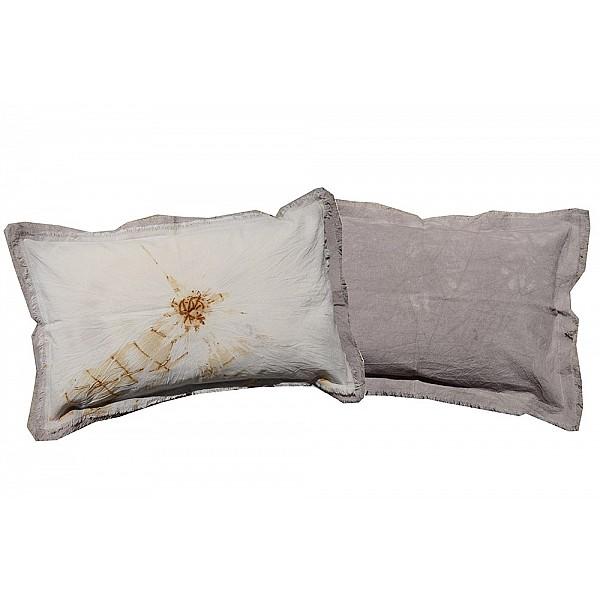 Pillowcase - Tussor con flecos