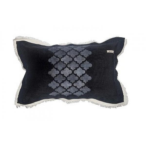 Pillowcase - Panne con Árabe Pintado y Tussor